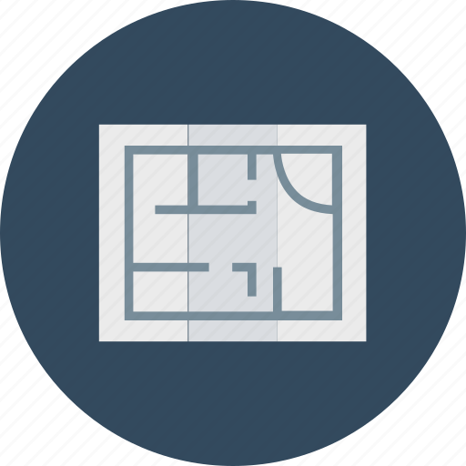 architecture, construction map, document, file, house plan icon