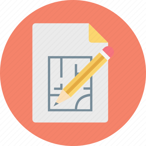 architecture, construction paper, draw, drawing, house plan icon