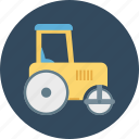 road bulldozer, road plain, road plain bulldozer icon