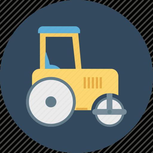 road bulldozer, road plain, road plain bulldozer icon