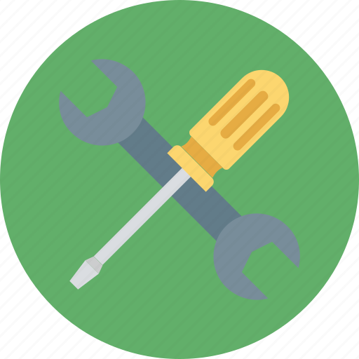 constructor tool, garage tool, screwdriver, screwdriver and spanner, screwdriver and wrench icon