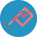 c clamp, carpentry, clamp, hand tool, work tool icon