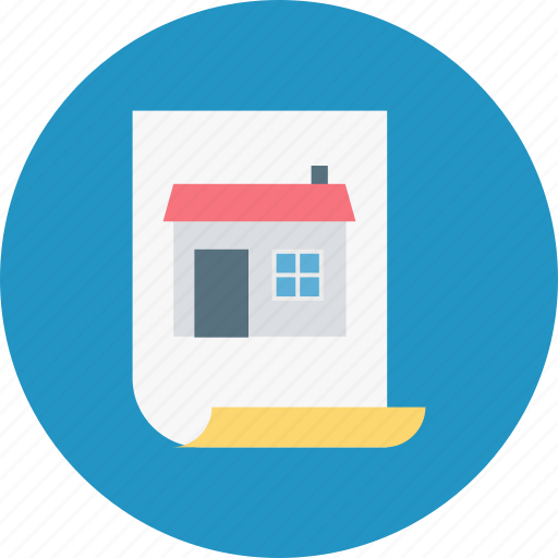 house contract, property contract, property document, property papers, real estate icon