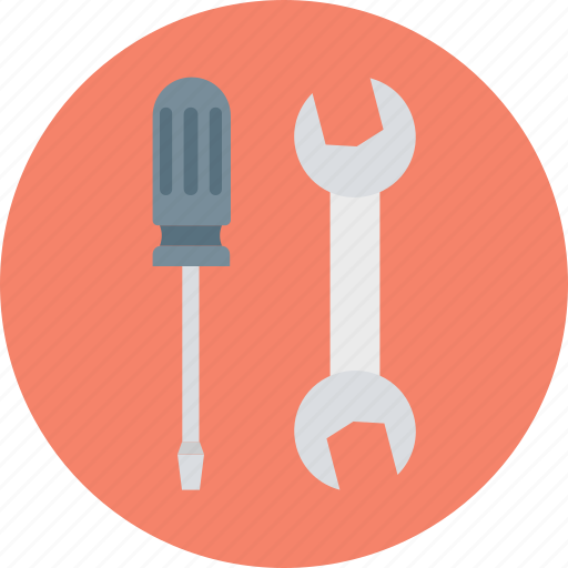 constructor tool, garage tool, screwdriver, screwdriver and spanner, screwdriver and wrench, tool, turnscrew icon