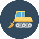 construction machinery, crane, excavator, heavy machinery, lifter icon