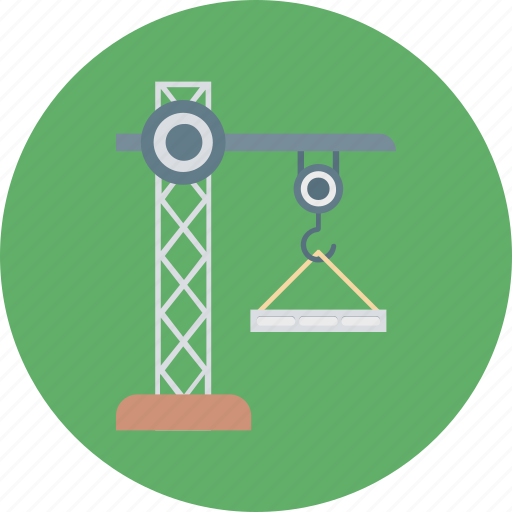 construction crane, crane hook, lift machine, lifter, lifting hook icon