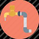 plumbing, faucet, tap, spigot valve, water tap icon