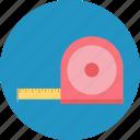 gauge, inches tape, measurement, measuring meter, measuring tape icon