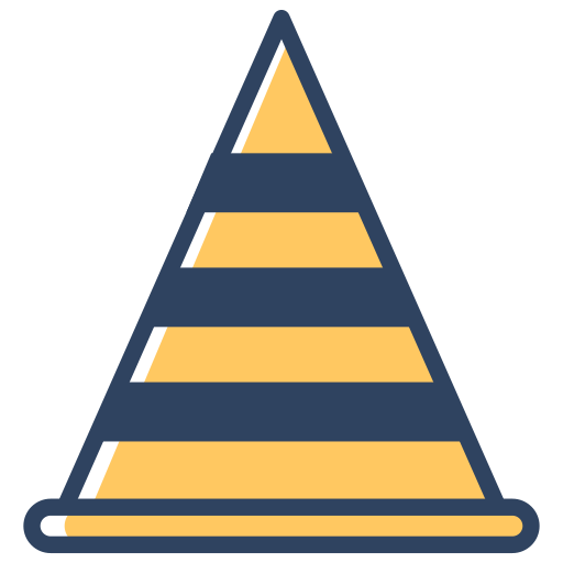 cone, construction, road, safety, traffic, under, vlc icon