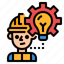 construction, engineer, idea, professions, worker