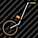 construction, device, measuring, tool, wheel icon
