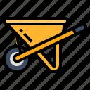 cart, construction, industry, trolley, wheelbarrow icon