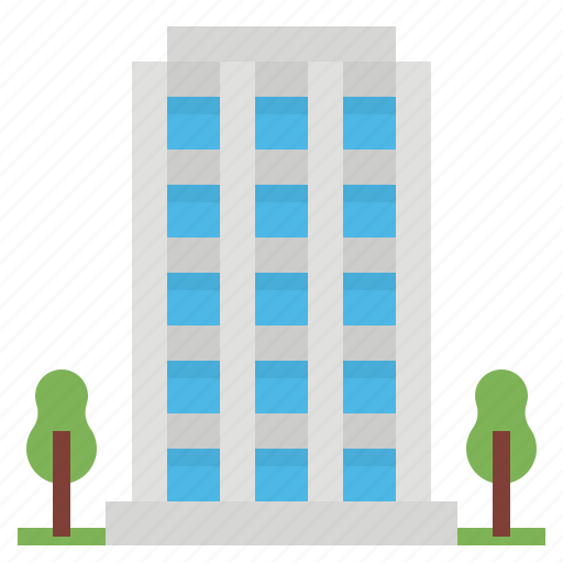 apartment, architectonic, buildings, hotel, office icon