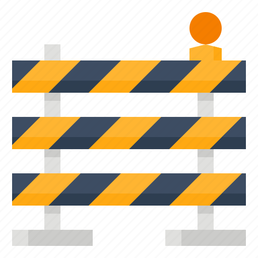 Barrier, caution, construction, signaling icon - Download on Iconfinder
