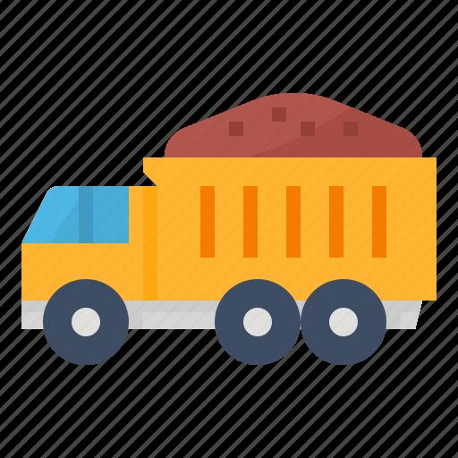 construction, dump, transport, truck icon