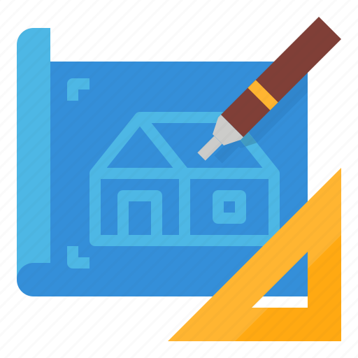 construction, design, drawing, house, plan icon
