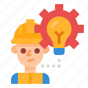 construction, engineer, idea, professions, worker