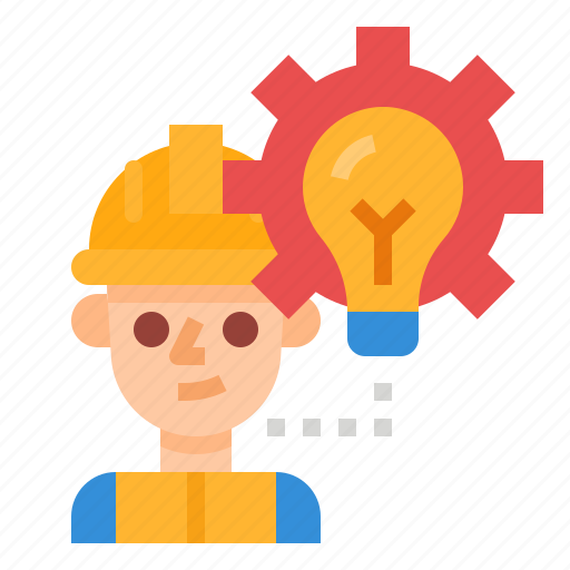 construction, engineer, idea, professions, worker icon