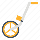 construction, device, measuring, tool, wheel icon