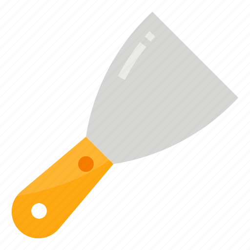 construction, device, knife, putty, tool icon