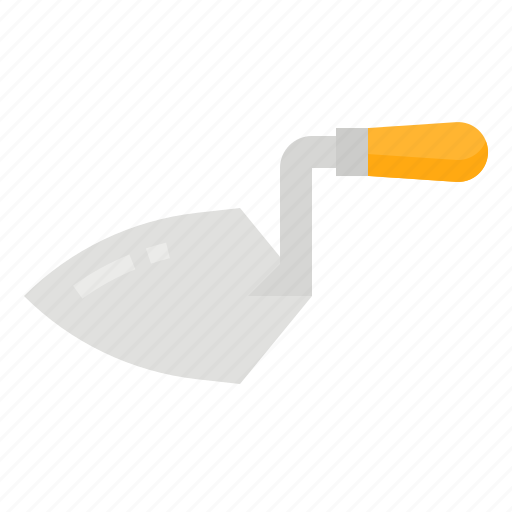brick, construction, repair, tools, trowel icon