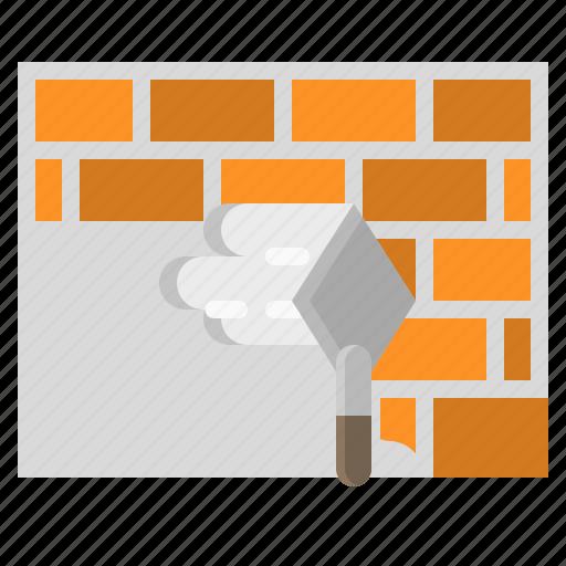 brick, bricks, construction, repair, wall icon