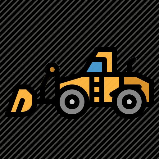 Bulldozer, construction, excavator, industry, transportation icon - Download on Iconfinder