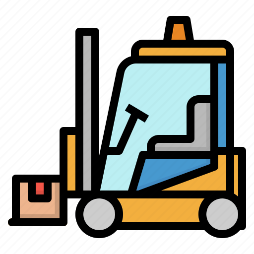Fork, forklift, lift, shipping, truck icon - Download on Iconfinder