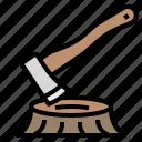 axe, camping, carpenter, carpentry, hatchet