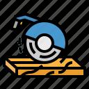 carpentry, circular, construction, electronics, saw icon