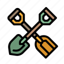 construction, gardening, shovel, tools icon
