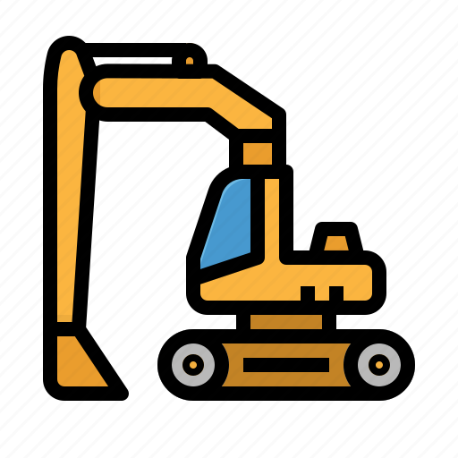 cargo, construction, loader, transport, truck icon