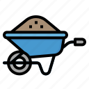 cart, transport, transportation, trolley, wheelbarrow icon