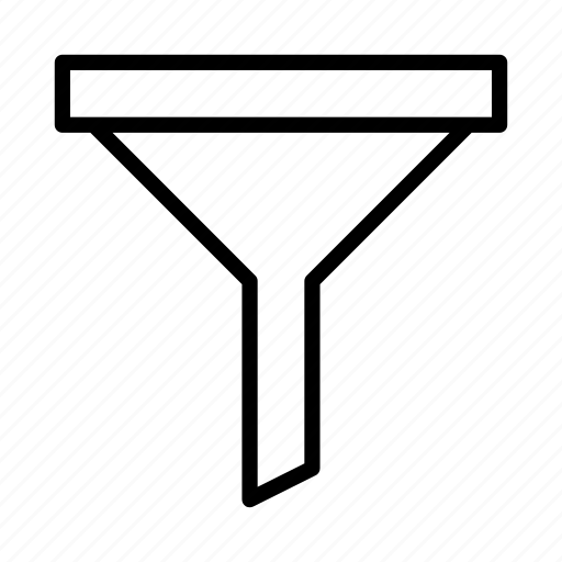 cone, filter, filtering, funnel, sort icon