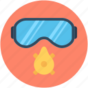 safety, safety glasses, safety mask, welding glasses, welding goggles icon