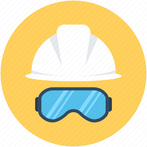 Hard hat, safety, safety glasses, safety helmet, worker safety icon - Download on Iconfinder