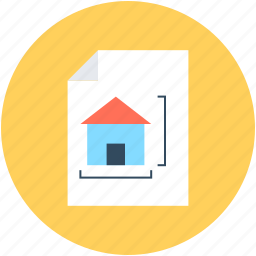 architectural paper, architecture, blueprint, construction map, house plan icon