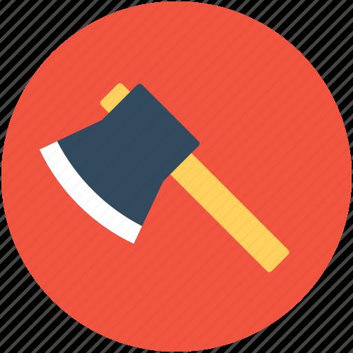 axe, cutting tool, garden tool, wood cutting, working tool icon