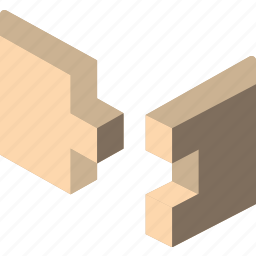 build, construction, finger, joint, structure icon