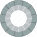 build, circular, construction, paving icon