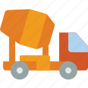cement, construction, truck, machinery, transport icon