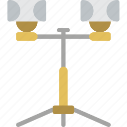 build, construction, equipment, lights, supplies icon