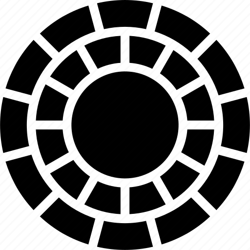 build, circular, construction, paving icon