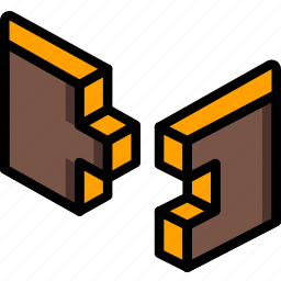 construction, finger, joint, woodwork icon