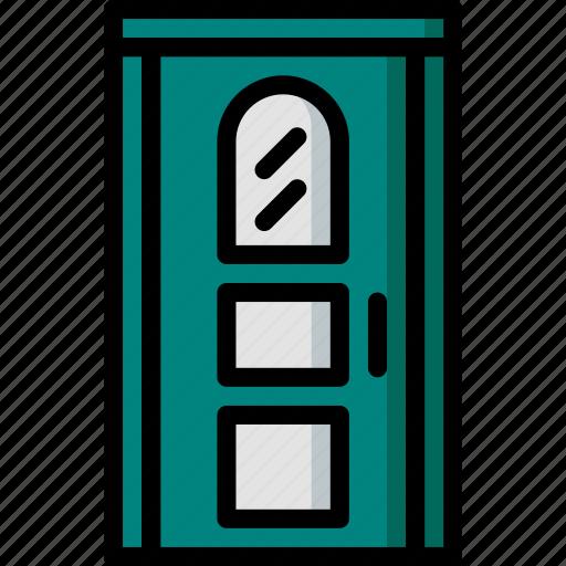 construction, door, house icon