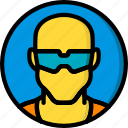 construction, glasses, ppe, protect, saftey icon