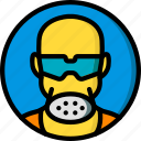 construction, gas, mask, ppe, protect icon