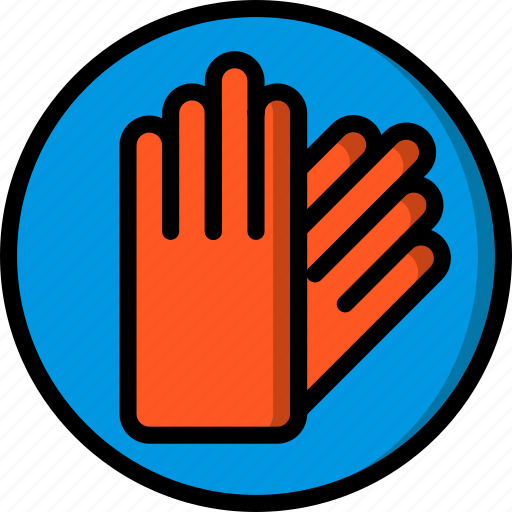 construction, gloves, ppe, protect, saftey icon