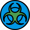 biohazard, construction, ppe, protect icon