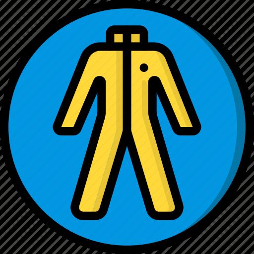 construction, hazmat, ppe, protect, suit icon